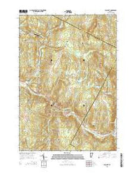Wolcott Vermont Current topographic map, 1:24000 scale, 7.5 X 7.5 Minute, Year 2015