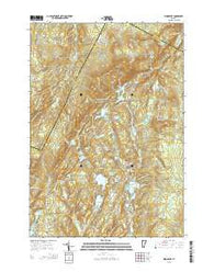 Woodbury Vermont Current topographic map, 1:24000 scale, 7.5 X 7.5 Minute, Year 2015