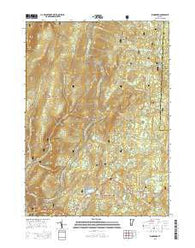 Woodford Vermont Current topographic map, 1:24000 scale, 7.5 X 7.5 Minute, Year 2015