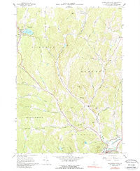 Woodstock North Vermont Historical topographic map, 1:24000 scale, 7.5 X 7.5 Minute, Year 1966