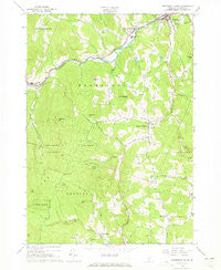 Woodstock South Vermont Historical topographic map, 1:24000 scale, 7.5 X 7.5 Minute, Year 1966