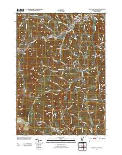 Woodstock South Vermont Historical topographic map, 1:24000 scale, 7.5 X 7.5 Minute, Year 2012