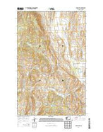 Aeneas Lake Washington Current topographic map, 1:24000 scale, 7.5 X 7.5 Minute, Year 2014 from Washington Map Store