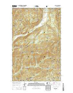 Aladdin Washington Current topographic map, 1:24000 scale, 7.5 X 7.5 Minute, Year 2014 from Washington Map Store