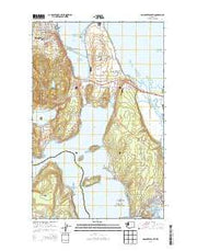 Anacortes South Washington Current topographic map, 1:24000 scale, 7.5 X 7.5 Minute, Year 2014 from Washington Maps Store