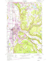 Auburn Washington Historical topographic map, 1:24000 scale, 7.5 X 7.5 Minute, Year 1949