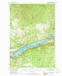 Bridal Veil Oregon Historical topographic map, 1:62500 scale, 15 X 15 Minute, Year 1954