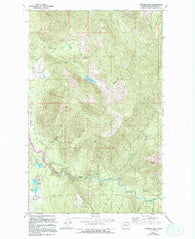 Canyon Lake Washington Historical topographic map, 1:24000 scale, 7.5 X 7.5 Minute, Year 1972