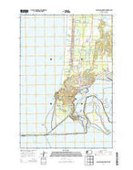 Cape Disappointment Washington Current topographic map, 1:24000 scale, 7.5 X 7.5 Minute, Year 2014 from Washington Map Store