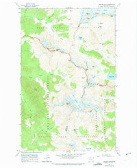 Cascade Pass Washington Historical topographic map, 1:24000 scale, 7.5 X 7.5 Minute, Year 1963