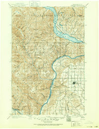 Chelan Washington Historical topographic map, 1:125000 scale, 30 X 30 Minute, Year 1901