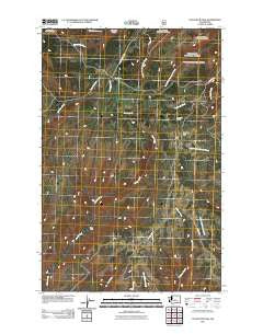 Colockum Pass Washington Historical topographic map, 1:24000 scale, 7.5 X 7.5 Minute, Year 2011