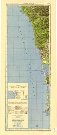 Copalis Beach Washington Historical topographic map, 1:250000 scale, 2 X 1 Degree, Year 1951