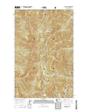 Copper Butte Washington Current topographic map, 1:24000 scale, 7.5 X 7.5 Minute, Year 2014 from Washington Maps Store