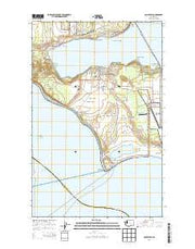 Coupeville Washington Current topographic map, 1:24000 scale, 7.5 X 7.5 Minute, Year 2014 from Washington Maps Store