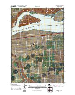 Crow Butte Washington Historical topographic map, 1:24000 scale, 7.5 X 7.5 Minute, Year 2011