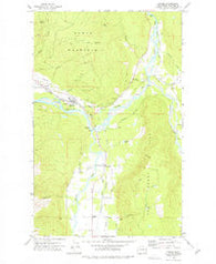 Deming Washington Historical topographic map, 1:24000 scale, 7.5 X 7.5 Minute, Year 1972