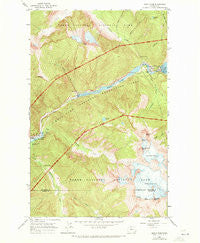 Diablo Dam Washington Historical topographic map, 1:24000 scale, 7.5 X 7.5 Minute, Year 1963