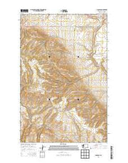 Douglas Washington Current topographic map, 1:24000 scale, 7.5 X 7.5 Minute, Year 2014 from Washington Maps Store