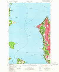 Duwamish Head Washington Historical topographic map, 1:24000 scale, 7.5 X 7.5 Minute, Year 1949