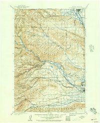 Ellensburg Washington Historical topographic map, 1:125000 scale, 30 X 30 Minute, Year 1899