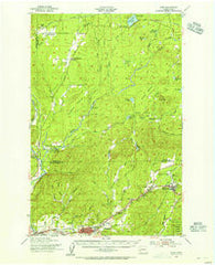 Elma Washington Historical topographic map, 1:62500 scale, 15 X 15 Minute, Year 1953