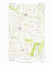 Fairfield Washington Historical topographic map, 1:62500 scale, 15 X 15 Minute, Year 1954