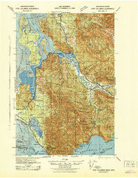 Fort Columbia Washington Historical topographic map, 1:62500 scale, 15 X 15 Minute, Year 1943