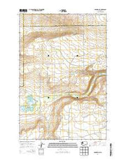 Hanford NE Washington Current topographic map, 1:24000 scale, 7.5 X 7.5 Minute, Year 2014 from Washington Maps Store