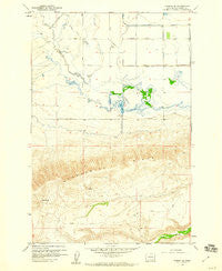 Harrah SE Washington Historical topographic map, 1:24000 scale, 7.5 X 7.5 Minute, Year 1958