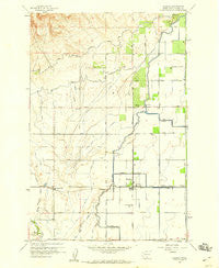 Harrah Washington Historical topographic map, 1:24000 scale, 7.5 X 7.5 Minute, Year 1958
