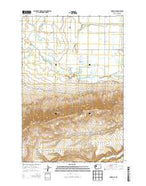 Harrah SE Washington Current topographic map, 1:24000 scale, 7.5 X 7.5 Minute, Year 2014 from Washington Map Store