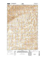 Hartline Washington Current topographic map, 1:24000 scale, 7.5 X 7.5 Minute, Year 2014 from Washington Map Store