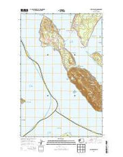 Lummi Island Washington Current topographic map, 1:24000 scale, 7.5 X 7.5 Minute, Year 2014 from Washington Maps Store