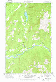 Maple Falls Washington Historical topographic map, 1:24000 scale, 7.5 X 7.5 Minute, Year 1972