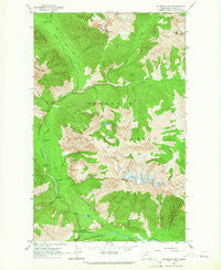 Mc Gregor Mtn Washington Historical topographic map, 1:24000 scale, 7.5 X 7.5 Minute, Year 1963