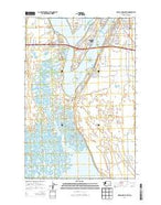 Moses Lake South Washington Current topographic map, 1:24000 scale, 7.5 X 7.5 Minute, Year 2014 from Washington Map Store
