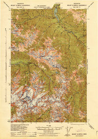 Mount Olympus Washington Historical topographic map, 1:62500 scale, 15 X 15 Minute, Year 1942