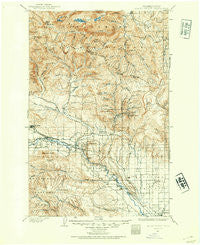 Mount Stuart Washington Historical topographic map, 1:125000 scale, 30 X 30 Minute, Year 1897