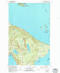 Mt Constitution Washington Historical topographic map, 1:24000 scale, 7.5 X 7.5 Minute, Year 1978