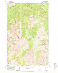 Mt Lyall Washington Historical topographic map, 1:24000 scale, 7.5 X 7.5 Minute, Year 1963