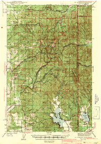 Mt Spokane Washington Historical topographic map, 1:62500 scale, 15 X 15 Minute, Year 1943