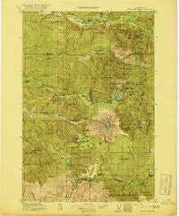 Mt St Helens Washington Historical topographic map, 1:125000 scale, 30 X 30 Minute, Year 1919