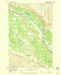 Naches Washington Historical topographic map, 1:24000 scale, 7.5 X 7.5 Minute, Year 1958