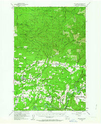 Onalaska Washington Historical topographic map, 1:62500 scale, 15 X 15 Minute, Year 1954
