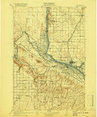 Pasco Washington Historical topographic map, 1:125000 scale, 30 X 30 Minute, Year 1917