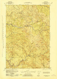 Pigeon Springs Washington Historical topographic map, 1:62500 scale, 15 X 15 Minute, Year 1943