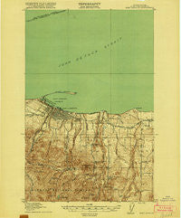 Port Angeles Washington Historical topographic map, 1:62500 scale, 15 X 15 Minute, Year 1918
