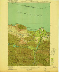 Port Crescent Washington Historical topographic map, 1:62500 scale, 15 X 15 Minute, Year 1919