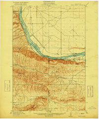 Priest Rapids Washington Historical topographic map, 1:62500 scale, 15 X 15 Minute, Year 1917